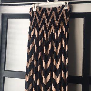 Black & Gold Maxi Dress